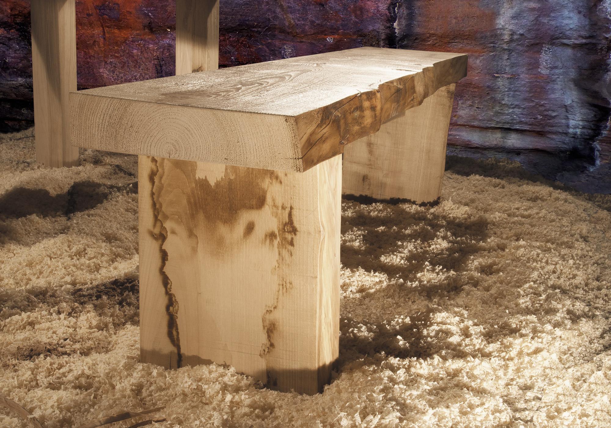 tavolo in legno massiccio massello - solid wood table Corteccia GWtables