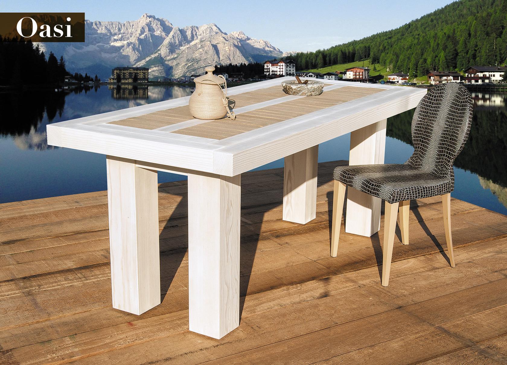tavolo in legno massiccio massello - solid wood table Oasi GWtables