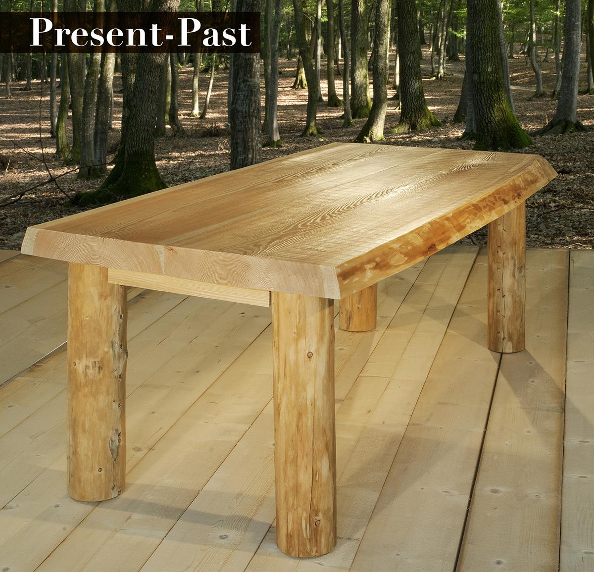 tavolo in legno massiccio Present-Past - GW Tables